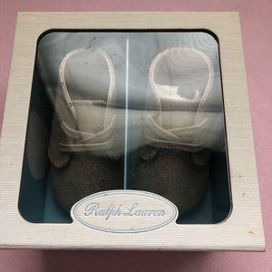 Size 3 Ralph Lauren Golden Booties